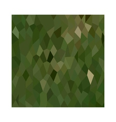 Jungle green abstract low polygon background vector