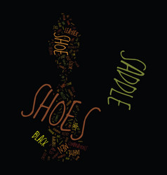 Men s saddle shoes text background word cloud vector