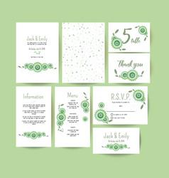 Modern wedding collection vector