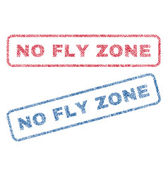 no fly zone textile stamps vector image