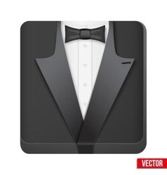 Premium icon suit tuxedo and bow-tie vector