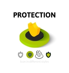 Protection icon in different style vector