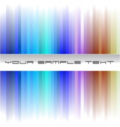 rainbow business card vector image vector image