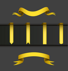 Realistic gold ribbons tape flag banner elegance vector