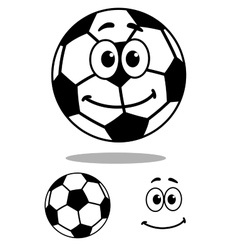 Smiling and white cartoon football character vector image