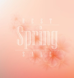 Spring background design vector image vector image