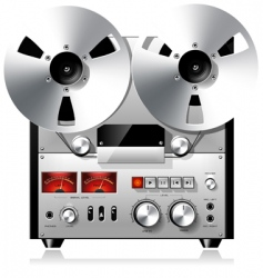 tape recorder deck vector image