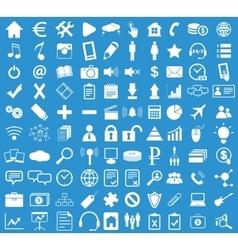 Webdesign icon set blue vector