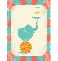 Elephant on the ball vector