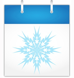 Winter calendar page vector