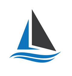 Sailing ship and yacht logo design vector
