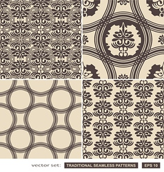 Vintage ornamental brown backgrounds vector