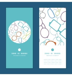 colorful glasses vertical round frame vector image