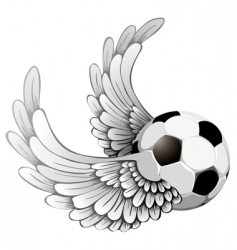Winged soccer ball vector