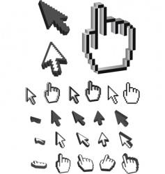 3d cursor vector image
