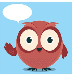 Owl say with balloon talk vector
