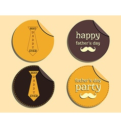 Happy fathers day label and sticker template with vector