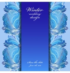 Winter frozen glass background stripe border vector