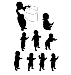 Baby first steps vector