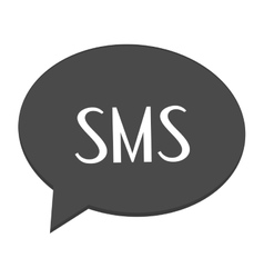 Conversation bubble with sms vector