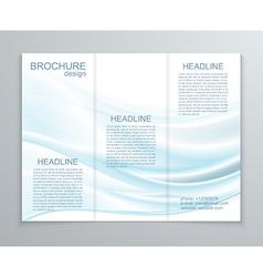 Abstract brochure design template vector