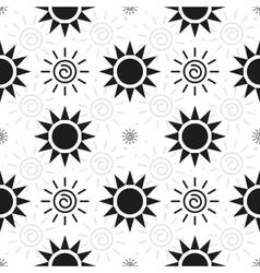 Abstract monochrome sun pattern vector