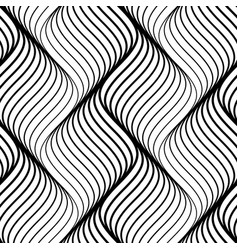 abstract seamless pattern of black wavy lines on vector image vector image