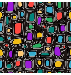 Abstract shapes on the black background vector image vector image