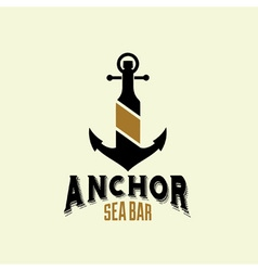 Anchor sea bar vector