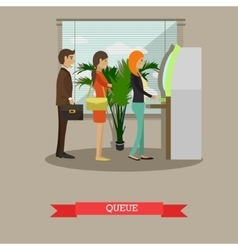 ATM people waiting in line vector image vector image