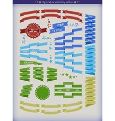 BigSetOfAdRibbonsX vector image vector image