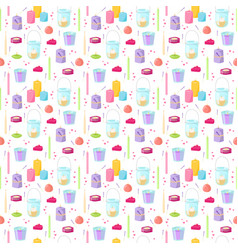 Candles seamless pattern vector