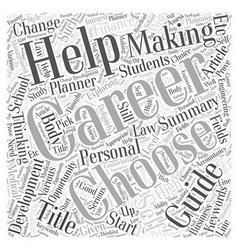 Career a self help guide word cloud concept vector