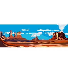 cartoon desert red rock canyon vector image