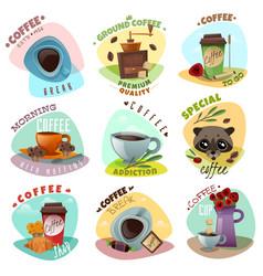 coffee shop emblems set vector image vector image