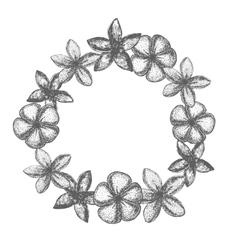 Frangipani garland vector
