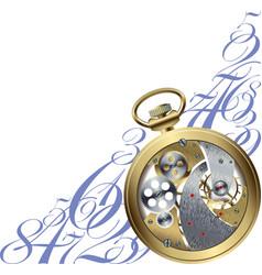 Golden watch inside vector image vector image