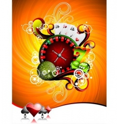 illustration on a casino theme vector image vector image