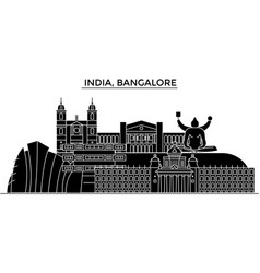 India bangalore architecture urban skyline with vector
