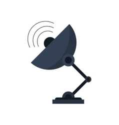 Isolated antenna technology design vector image