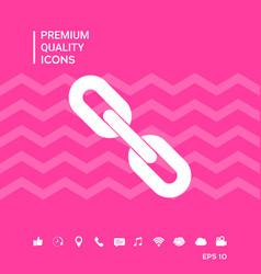 Link chain symbol icon vector