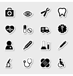 Medical icons set as labels vector