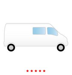 minibus it is icon vector image