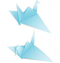 paper crane origami vector image vector image