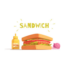 Sandwich cartoon design vector