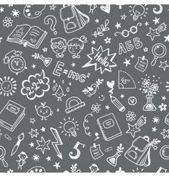 Seamless pattern on the school theme a blackboard vector