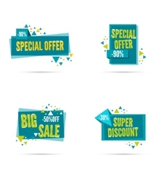 Special offer discount vector