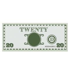 Twenty money bill image vector
