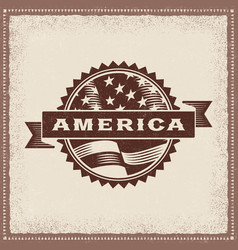 Vintage america label vector