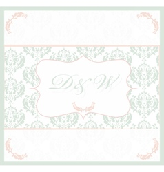 Vintage card with lace ornaments vector image vector image